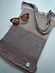 Nákupné tašky - Sieťka - taška  (Hnedá) - 10922621_
