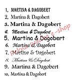 Darčeky pre svadobčanov - Čokoládové menovky, darček na redový tanec - 10921240_