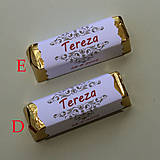 Darčeky pre svadobčanov - Čokoládové menovky, darček na redový tanec - 10922540_