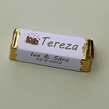 Darčeky pre svadobčanov - Čokoládové menovky, darček na redový tanec - 10921177_
