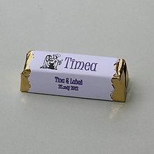 Darčeky pre svadobčanov - Čokoládové menovky, darček na redový tanec - 10921237_