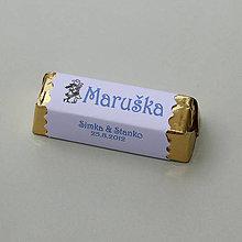 Darčeky pre svadobčanov - Čokoládové menovky, darček na redový tanec - 10921246_
