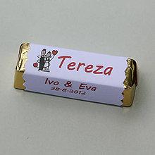 Darčeky pre svadobčanov - Čokoládové menovky, darček na redový tanec - 10921263_