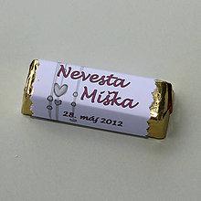 Darčeky pre svadobčanov - Čokoládové menovky, darček na redový tanec - 10922440_