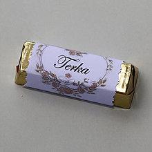 Darčeky pre svadobčanov - Čokoládové menovky, darček na redový tanec - 10922450_