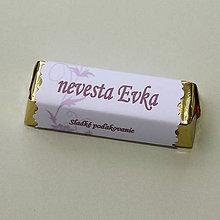 Darčeky pre svadobčanov - Čokoládové menovky, darček na redový tanec - 10922475_