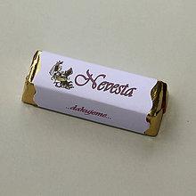 Darčeky pre svadobčanov - Čokoládové menovky, darček na redový tanec - 10922505_