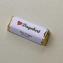 Darčeky pre svadobčanov - Čokoládové menovky, darček na redový tanec - 10922518_