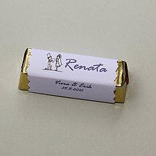Darčeky pre svadobčanov - Čokoládové menovky, darček na redový tanec - 10922553_