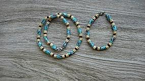 Šperky - Pánska sada Originál MOZAIKA náhrdelník + náramok - chirurgická oceľ, č. 2810 - 10921530_