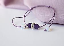 Náramky - Jemný luxus Ametyst a Opalit-mesačný kameň - 10922402_