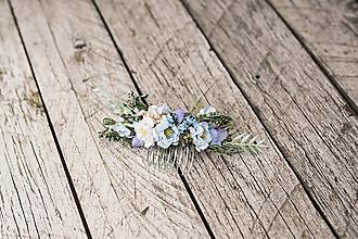 """Ozdoby do vlasov - Kvetinový hrebienok """"dotyk neba"""" - 10920420_"""
