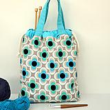 Iné tašky - Taška kvetovaná ~ tvoritaška + nákupná - 10922287_