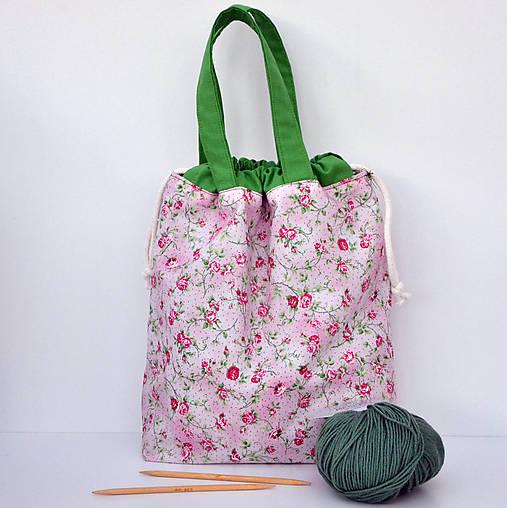 Taška ružičková ~ tvoritaška + nákupná