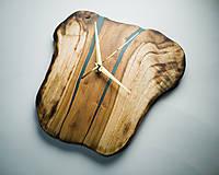 Hodiny - RAW Resin 9 - Teakové drevené hodiny - 10922385_
