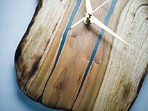 Hodiny - RAW Resin 9 - Teakové drevené hodiny - 10922388_