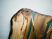 Hodiny - RAW Resin 9 - Teakové drevené hodiny - 10922389_