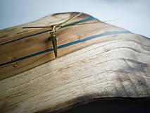 Hodiny - RAW Resin 9 - Teakové drevené hodiny - 10922390_