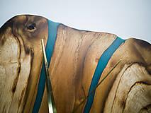 Hodiny - RAW Resin 9 - Teakové drevené hodiny - 10922391_