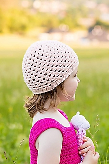 Detské čiapky - Jarná čiapočka - 10921314_