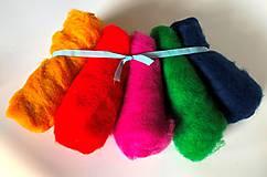 Textil - Mykaná vlna sada 100 g farebná - 10922574_