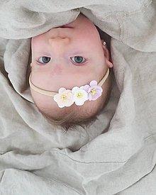 Detské doplnky - čelenka jemná marhuľovo ružová - 10922423_
