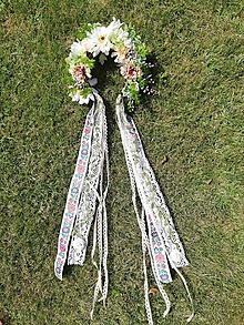 Ozdoby do vlasov - Kvetinová parta Svadobná - 10921385_