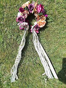 Ozdoby do vlasov - Kvetinová parta Taká Jesenná - 10921428_