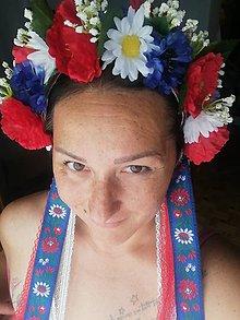 Ozdoby do vlasov - Kvetinová parta Taká Slovenská - 10921449_