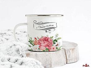 Nádoby - Romantický retro hrnček s vlastným nápisom - 10922171_