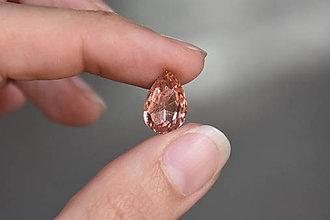 Komponenty - Kabošon sklenený losos 10x14mm, 0.30€/ks - 10920628_