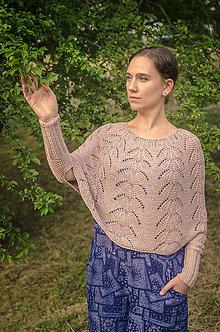 Svetre/Pulóvre - Pelerínka s rukávmi - 10921004_