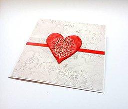 Papiernictvo - Pohľadnica ... červené ♥ - 10924307_