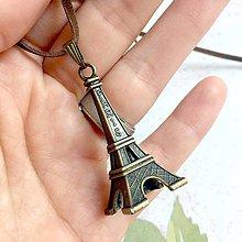 Náhrdelníky - Vintage Eiffel Tower Pendant / Starobronzový filigránový prívesok Eiffelovka - 10923098_