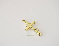 Náhrdelníky - Zlatý krížik - 10924624_