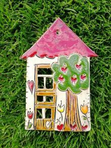 Dekorácie - Závesný domček na stenu č.2 - 10923308_