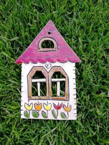 Dekorácie - Závesný domček na stenu č.6 - 10923370_