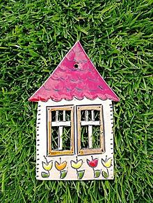 Dekorácie - Závesný domček na stenu č.8 - 10923576_