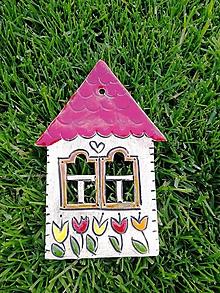 Dekorácie - Závesný domček na stenu č.10 - 10923681_