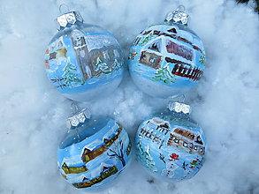 Iné doplnky - Vianočné gule ručne maľované - 10924192_
