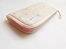 Na mobil - Obal na mobil - Ružovo/biele guličky - 10923867_
