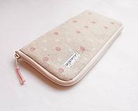 Na mobil - Obal na mobil - Ružovo/biele guličky - 10923868_