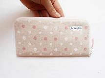 Na mobil - Obal na mobil - Ružovo/biele guličky - 10923877_