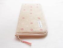 Na mobil - Obal na mobil - Ružovo/biele guličky - 10923929_