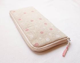 Na mobil - Obal na mobil - Ružovo/biele guličky - 10923903_