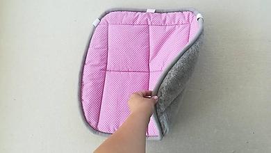 Úžitkový textil - RUNO SHOP Hrejivý sedák do auta 100 % MERINO TOP FINE proti prechladnutiu a prehriatiu GREY - 10924654_