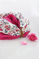 """Šatky - Pestrofarebný dvojitý nákrčník z ľanu a kvetinovej bavlny """"AnnaBelle"""" - 10923425_"""