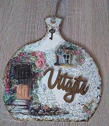 Tabuľky - Dekoračný lopárik - VITAJTE - 10924126_