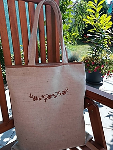 Nákupné tašky - Ľanová taška - 10924243_