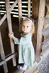 Šaty - Detské ľanové šaty - 10923997_